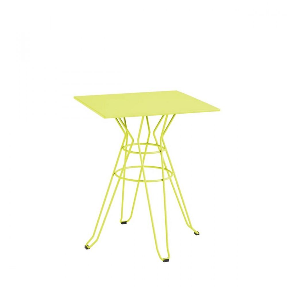 emejing table jardin carre metal ideas awesome interior home satellite. Black Bedroom Furniture Sets. Home Design Ideas