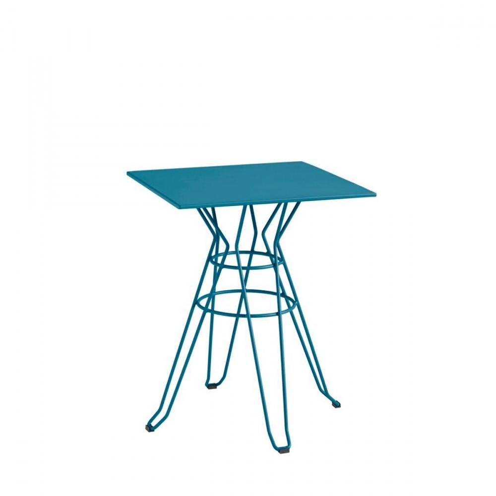 table de jardin carr e design alameda 60x60 par drawer. Black Bedroom Furniture Sets. Home Design Ideas