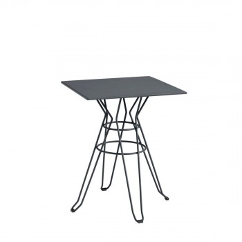 Table de jardin design Alameda 60x60 gris anthracite