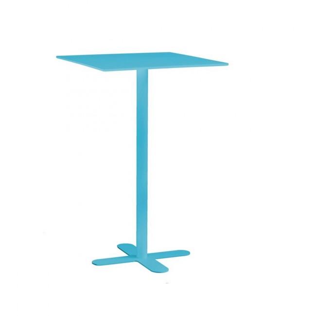 Table haute de jardin design San Mateo 60x60 turquoise
