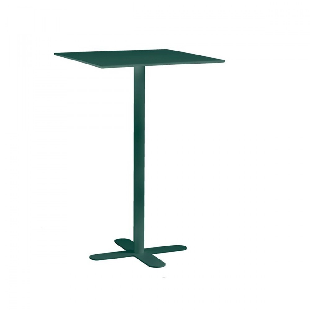 Table haute de jardin design carr e 60x60 san mateo for Table jardin haute