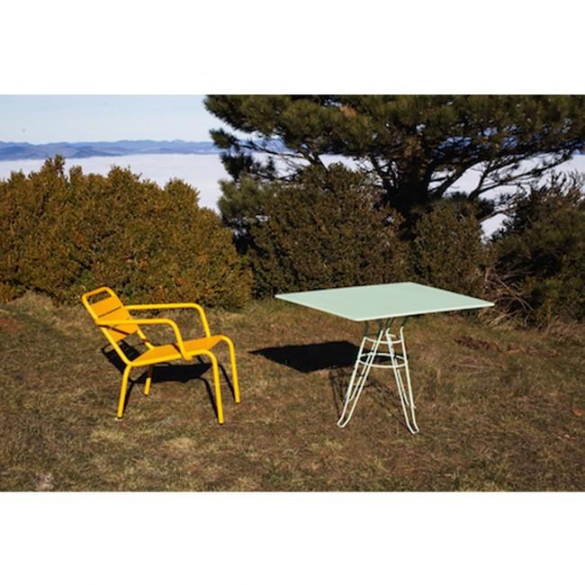 Table de jardin design rectangle 110x70 Alameda