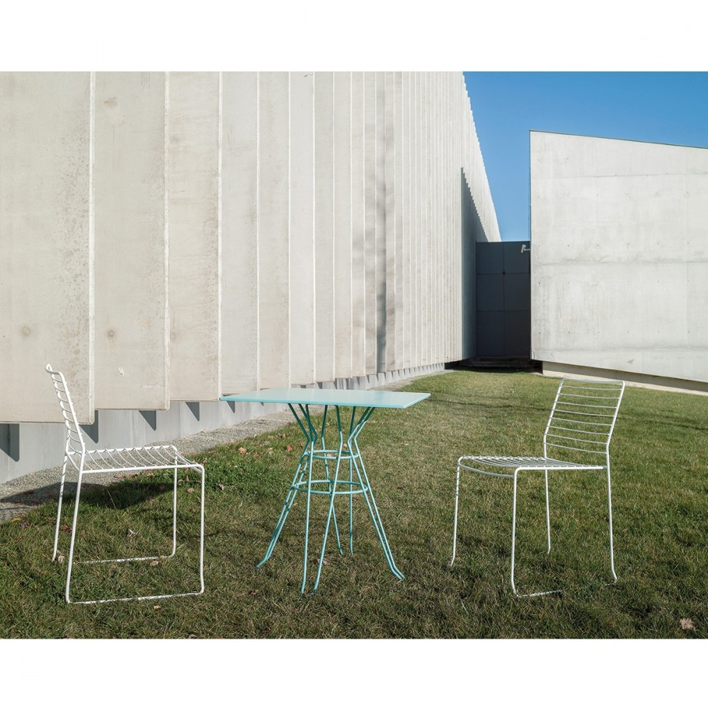 Table de jardin carr e design alameda 90x90 par for Meuble jardin design