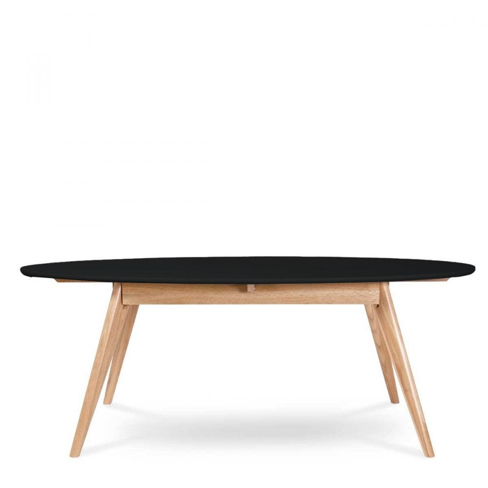 Table basse scandinave ovale skoll by drawer - Table basse ovale noire ...