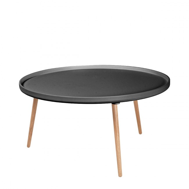 Table basse ronde Kompass Ø90 grise anthracite