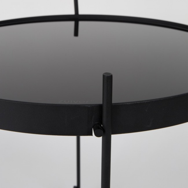 Table basse design ronde noire Cupid