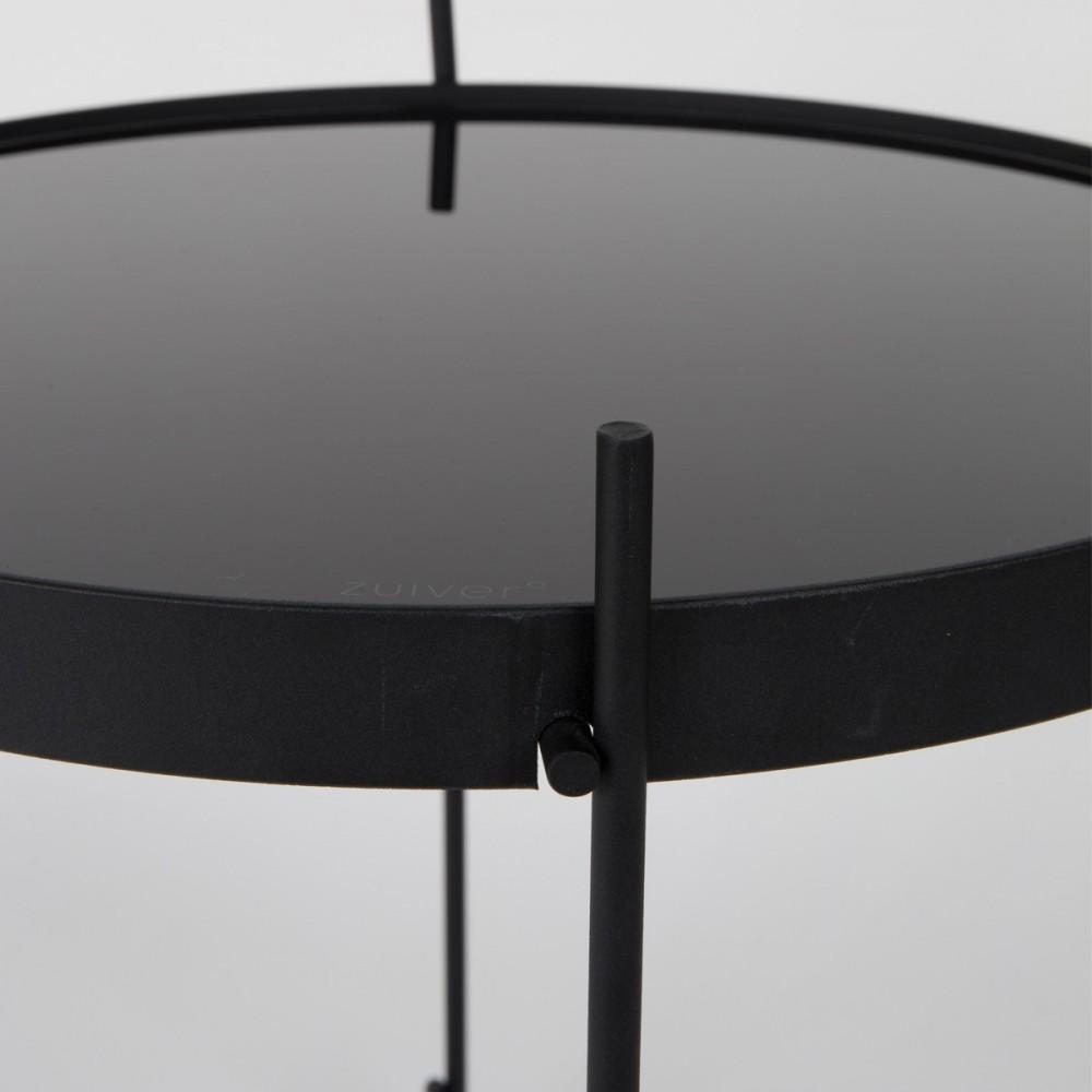 Table basse ronde noire design - Petite table basse design ...
