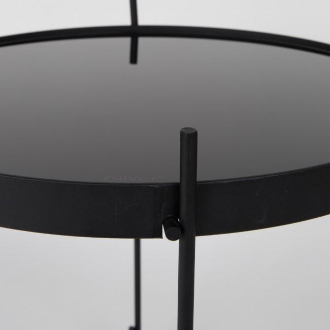 Table basse design ronde noire Cupid