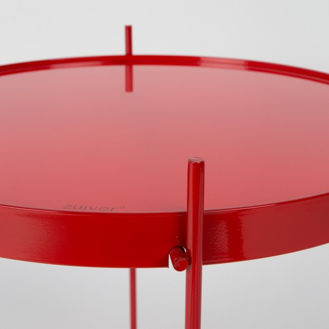 Table basse design ronde rouge Cupid