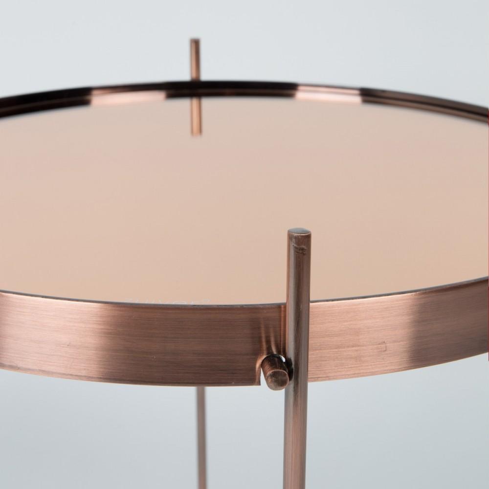 table basse cuivr e design ronde cupid large zuiver. Black Bedroom Furniture Sets. Home Design Ideas