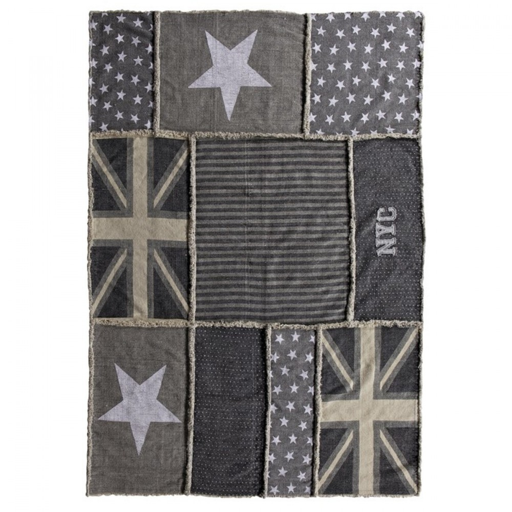 tapis vintage patchwork etoiles style r tro par drawer. Black Bedroom Furniture Sets. Home Design Ideas