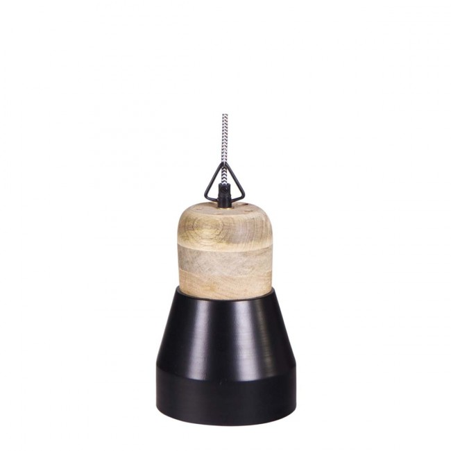 Suspension bois métal Salt and Pepper Medium