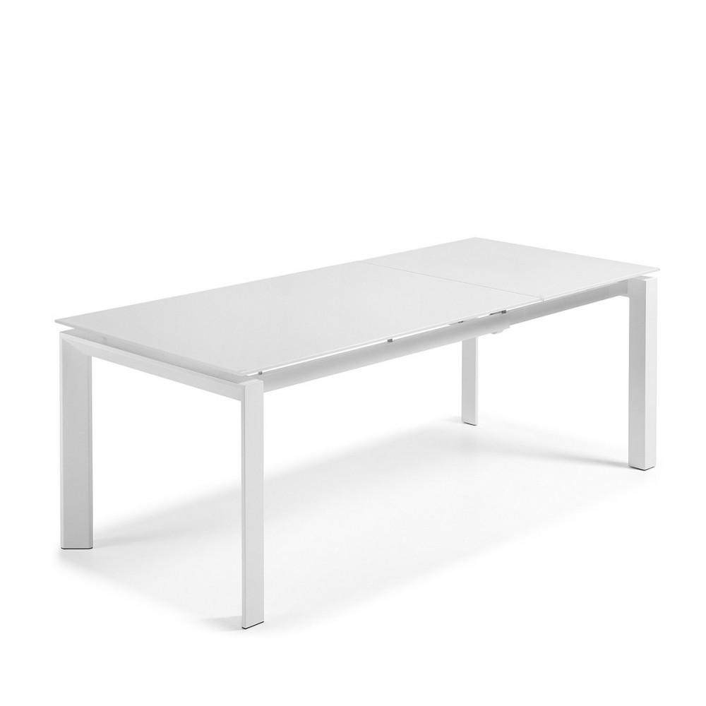 table manger extensible acier okila sur drawer. Black Bedroom Furniture Sets. Home Design Ideas