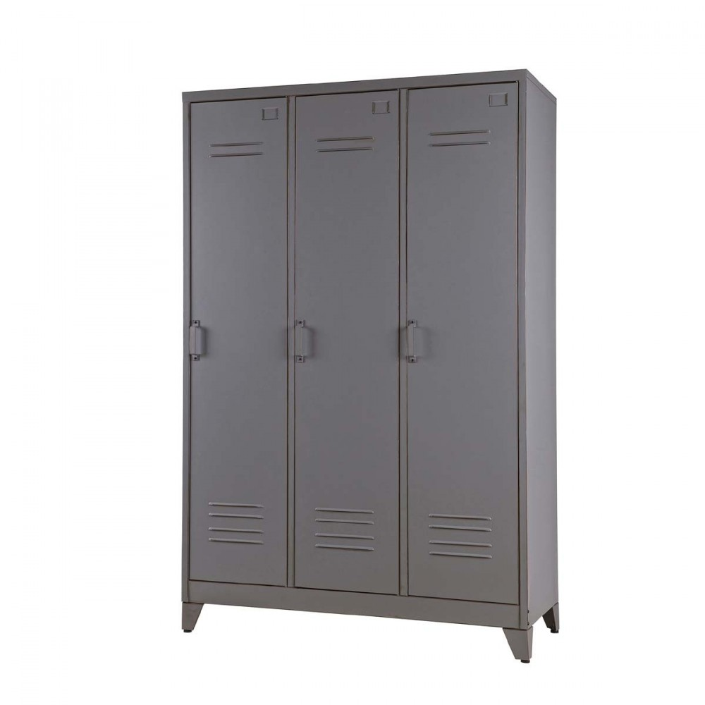 armoire 3 portes m tal maxim par. Black Bedroom Furniture Sets. Home Design Ideas