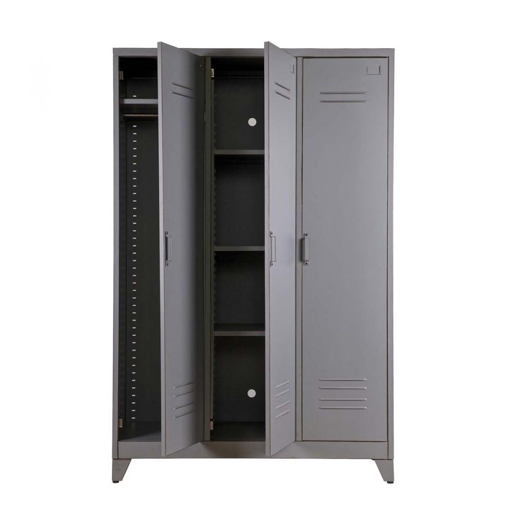 armoire 3 portes m tal maxim par. Black Bedroom Furniture Sets. Home Design Ideas