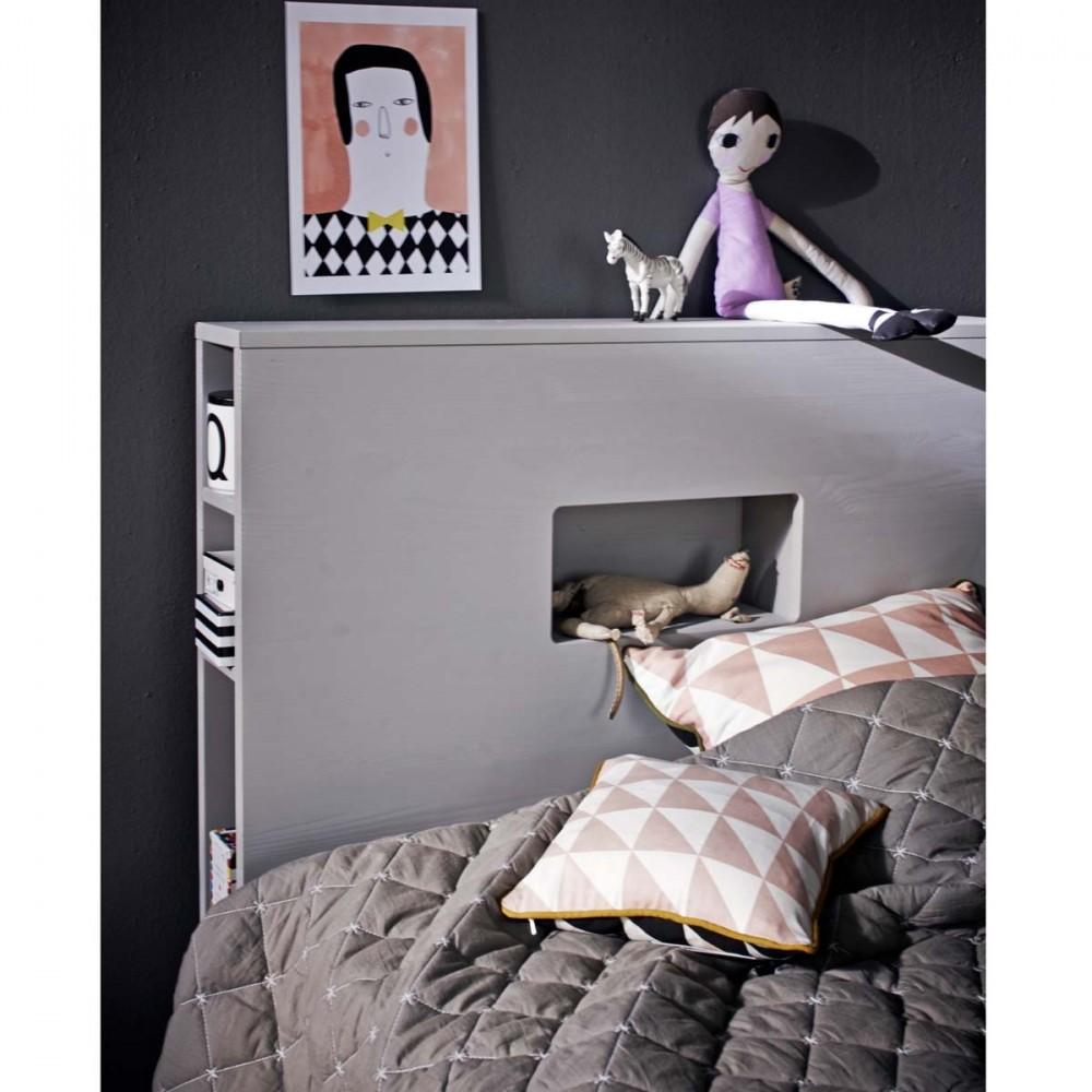 Cadre de lit avec tiroir en bois 90 X 200 Sam - Drawer.fr 582189c66653