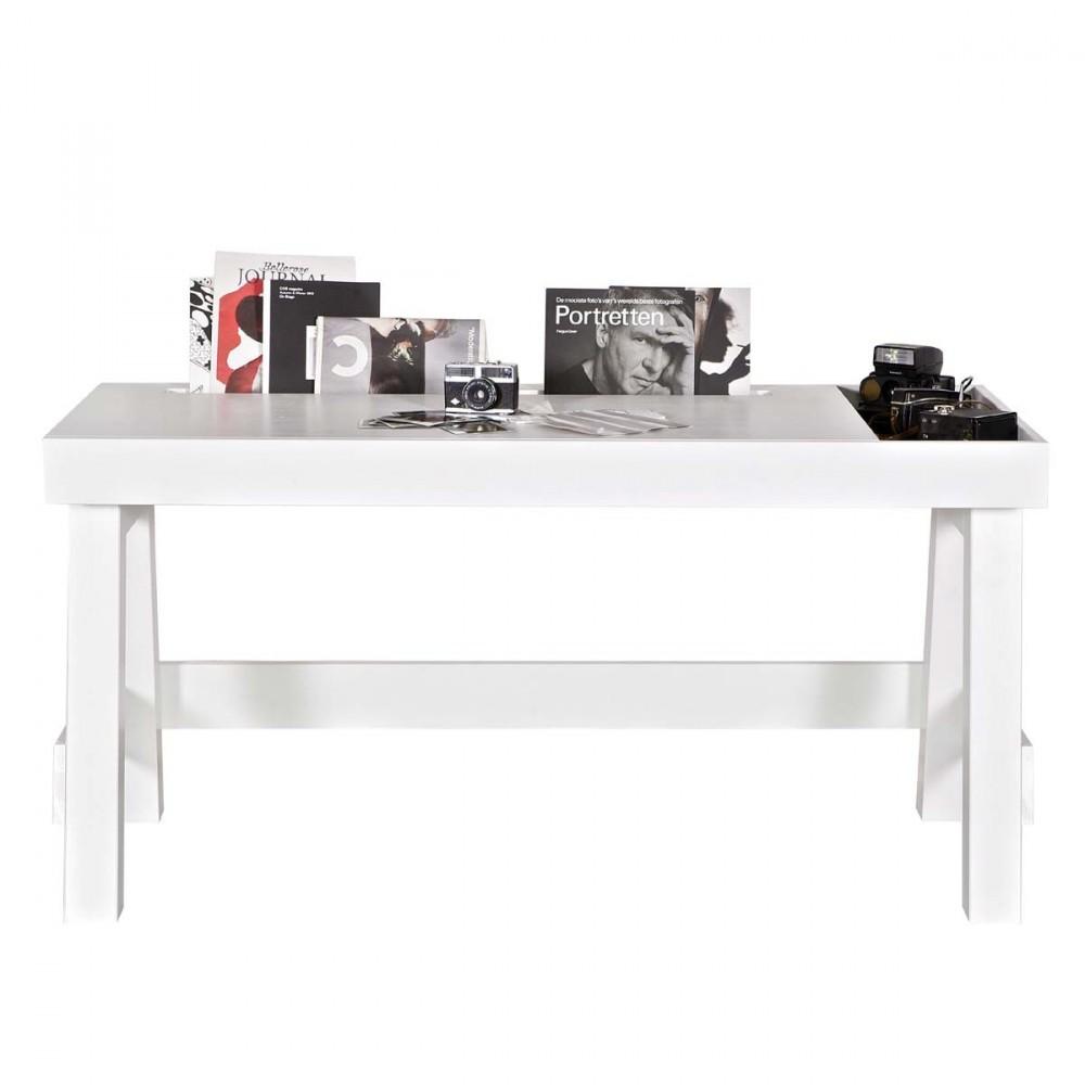 Bureau en bois rangement groove par drawer for Bureau bois avec rangement