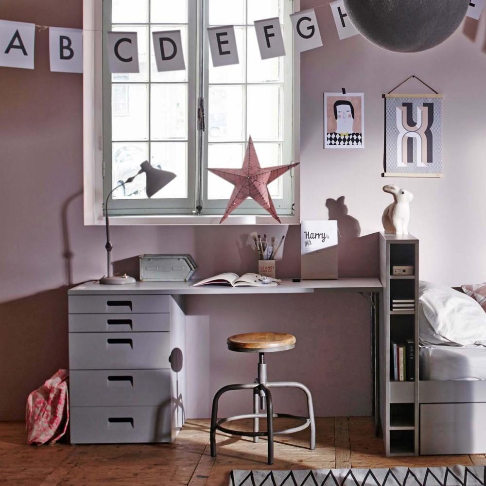 bureau rangement en bois fsc sam wood par. Black Bedroom Furniture Sets. Home Design Ideas