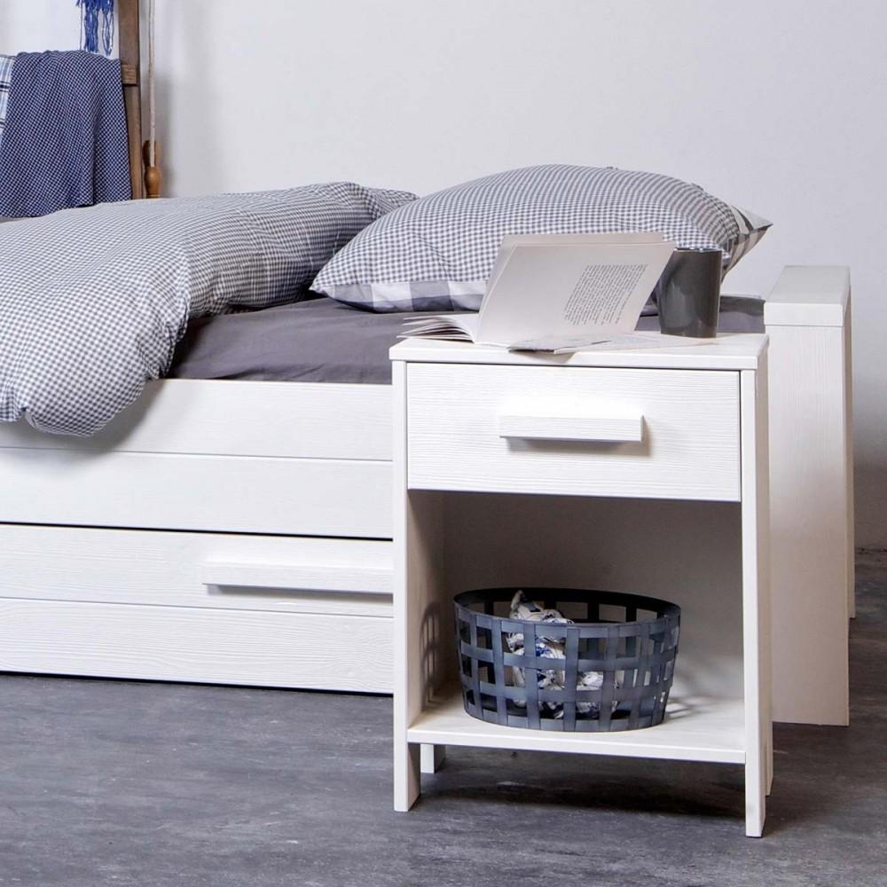 table de chevet en bois fsc denis par drawer. Black Bedroom Furniture Sets. Home Design Ideas