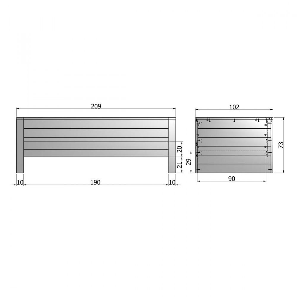 Lit 1 place banquette en bois fsc denis par - Dimension standard lit 2 places ...