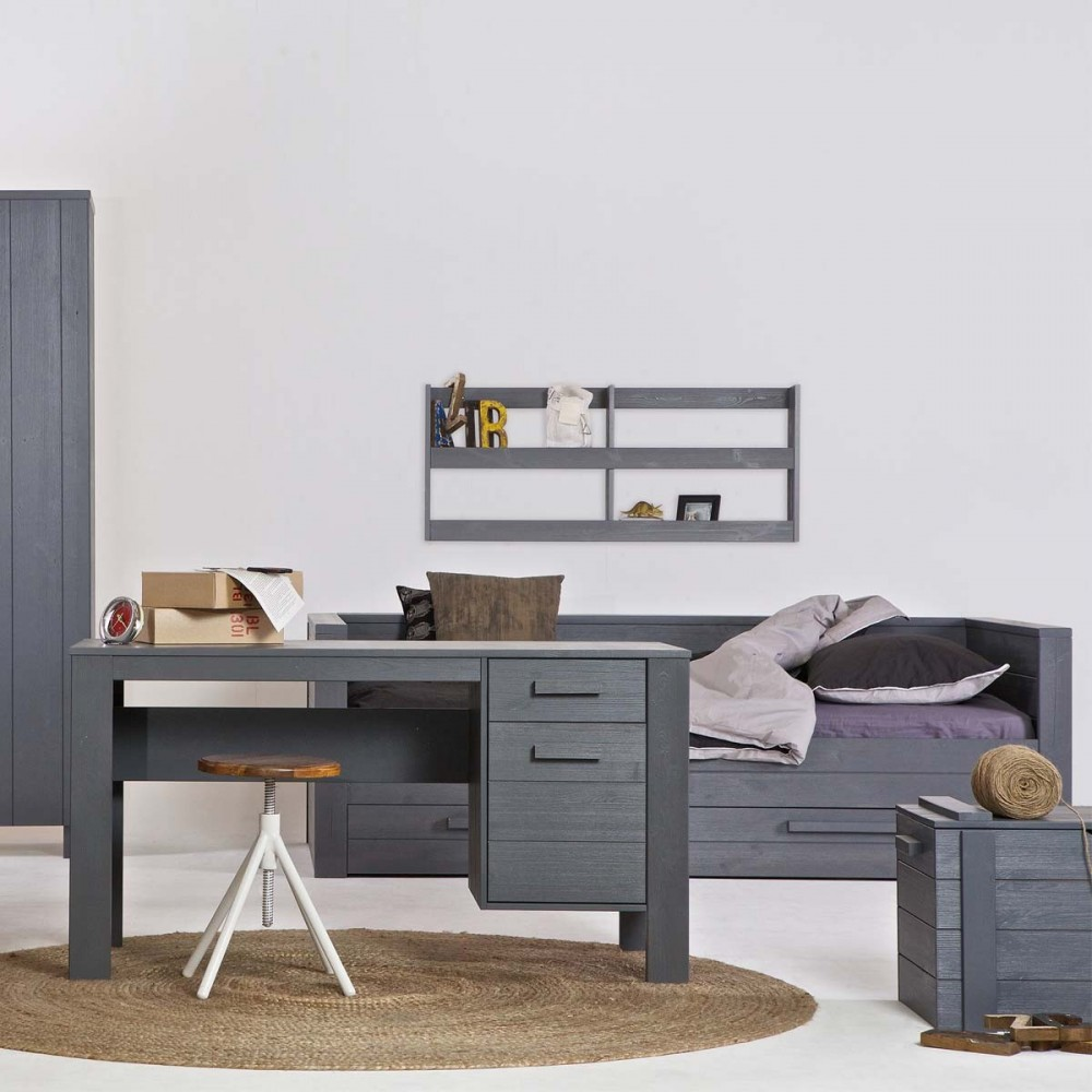 lit 1 place bois massif maison design. Black Bedroom Furniture Sets. Home Design Ideas