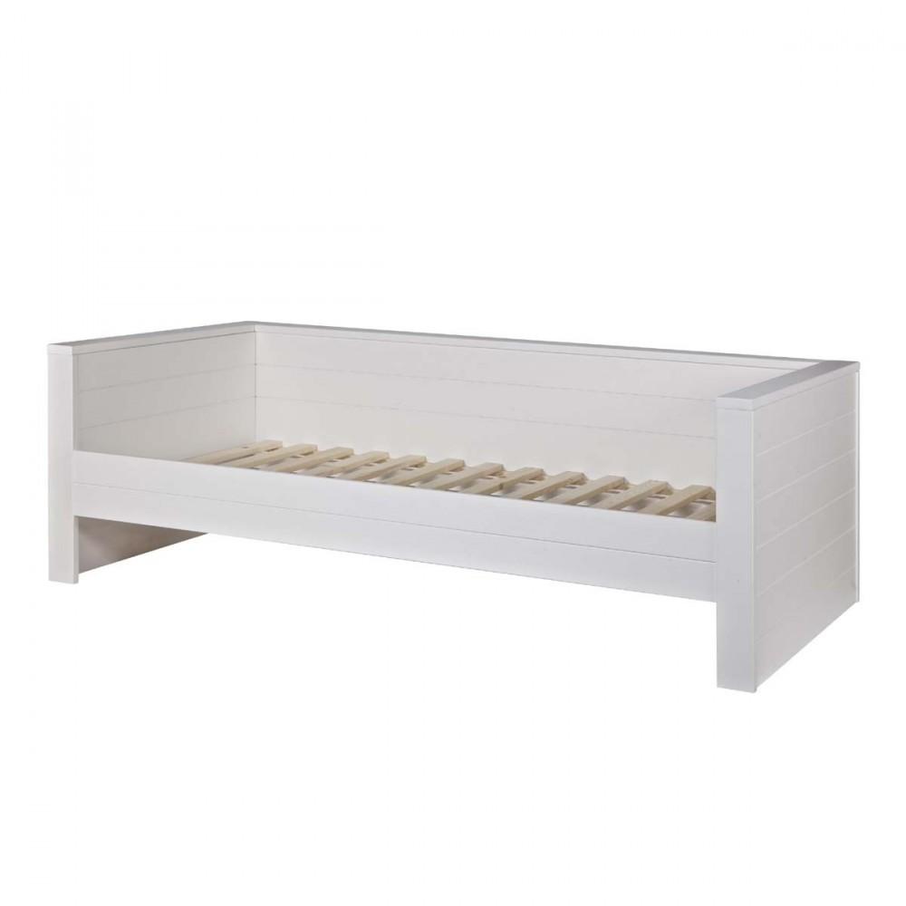 Cadre de lit 1 place banquette en bois fsc denis for Banquette lit confortable