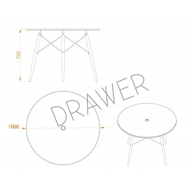 Table scandinave design ronde Skoll