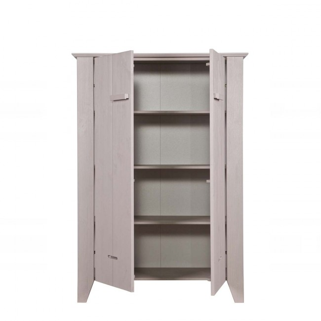 Armoire taupe pin brossé Veer