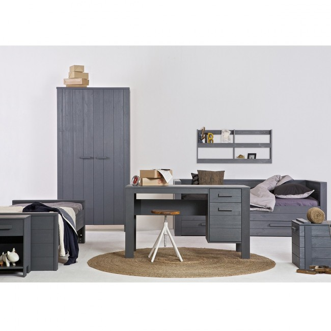 Chambre junior en bois gris anthracite Denis par Drawer
