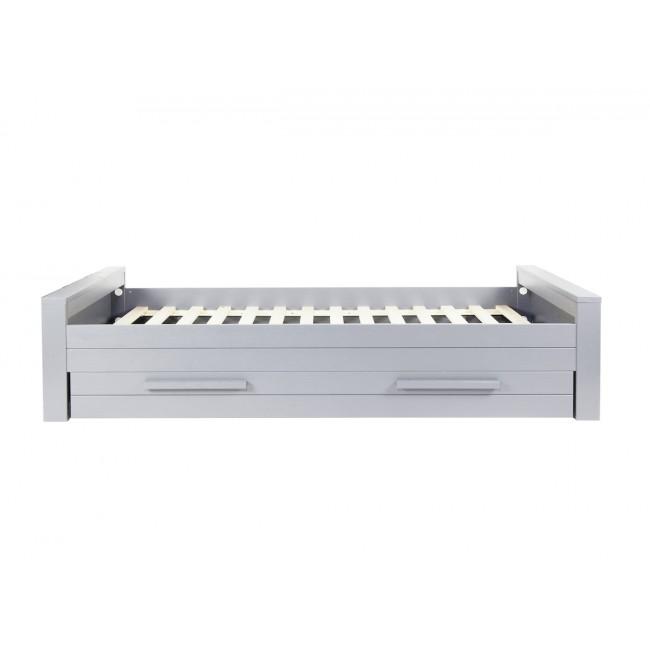 Lit en bois gris béton fsc 90x200 Denis