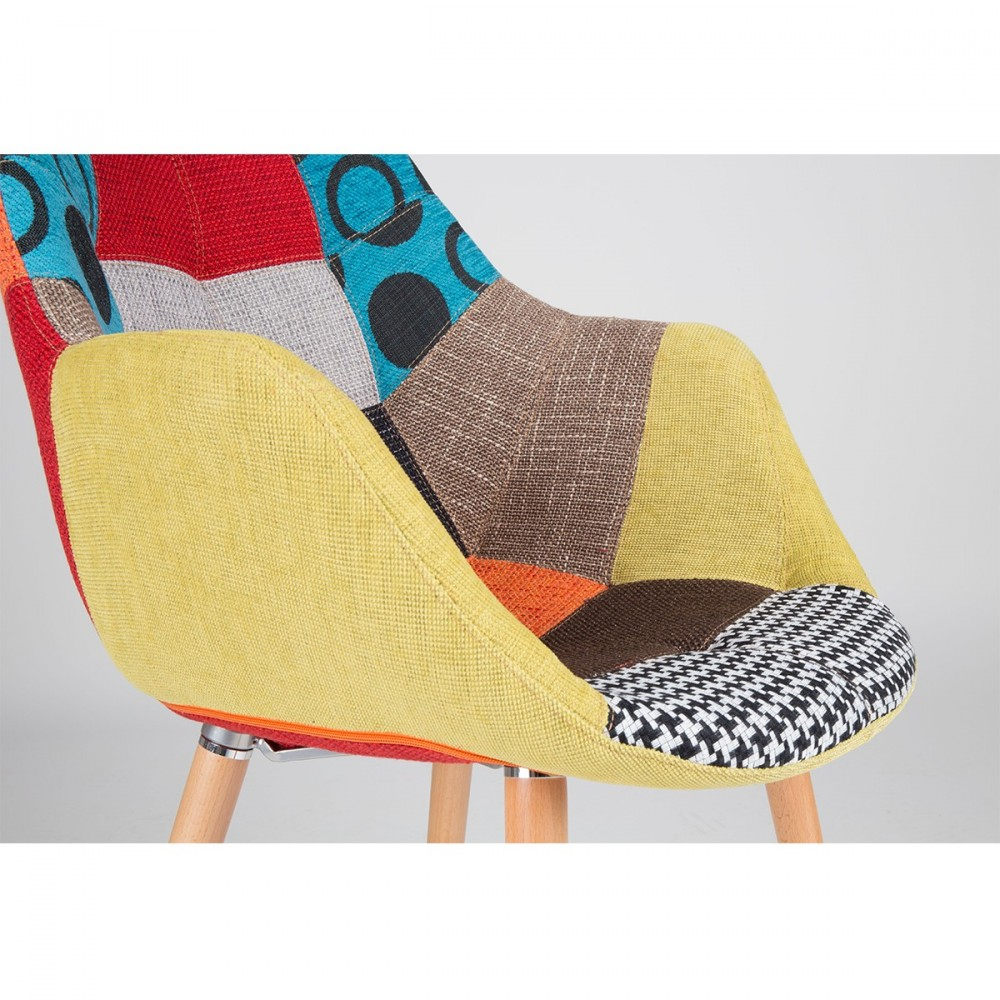 Chaise lounge eleven patchwork zuiver for Chaise patchwork