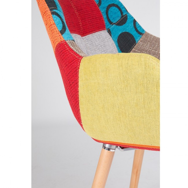 Chaise multicolore Twelve Patchwork de Zuiver