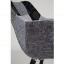 Chaise tissu gris patchwork Twelve de Zuiver