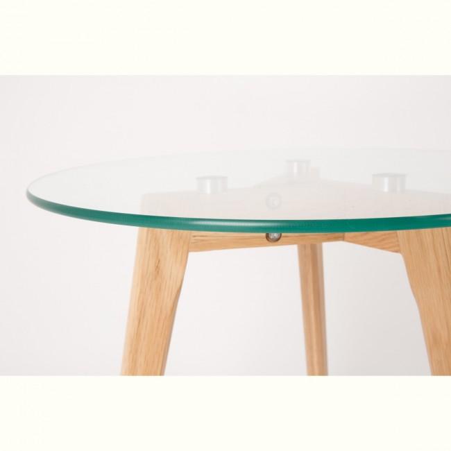 2x tables basses scandinaves verre et chêne Bror