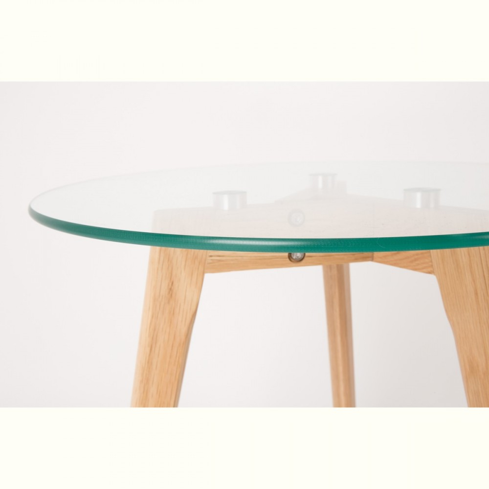 Tables basses scandinaves x2 verre et ch ne bror - Table basse chene verre ...