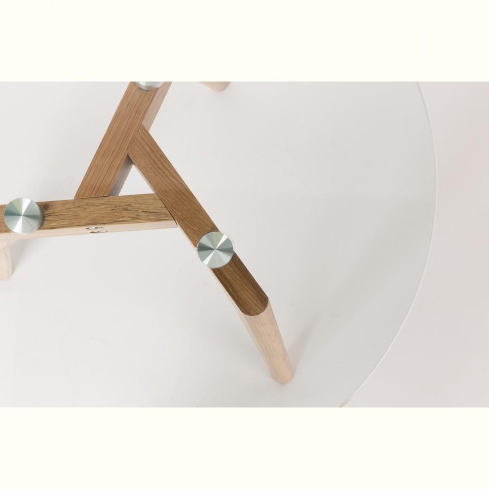 Tables basses scandinaves x2 verre et ch ne bror - Set de table pour table en verre ...