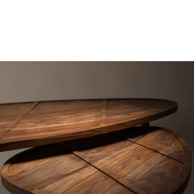 Set de 2 tables basses en Palissandre Sham