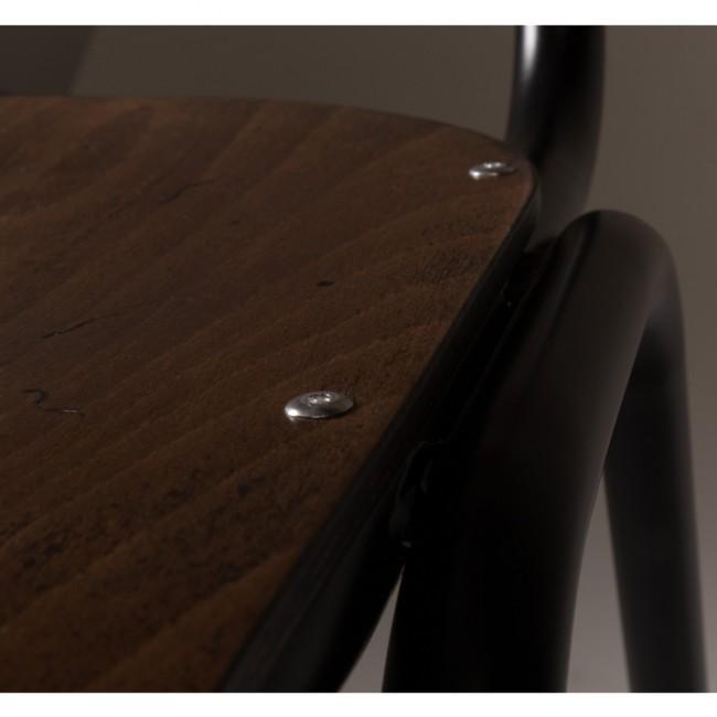 2x chaise vintage métal bois Scuola