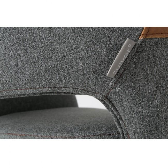 Fauteuil de bureau design gris pivotant Syl