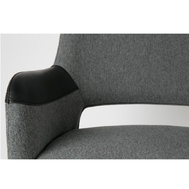 Fauteuil de bureau design gris et noir pivotant Syl