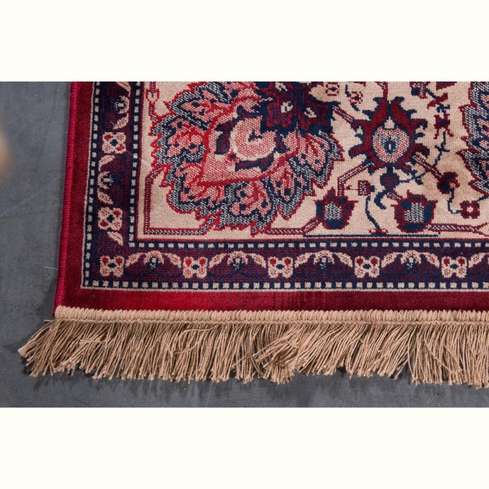 Tapis persan rouge old bid style oriental par drawer - Tapis beige et rouge ...