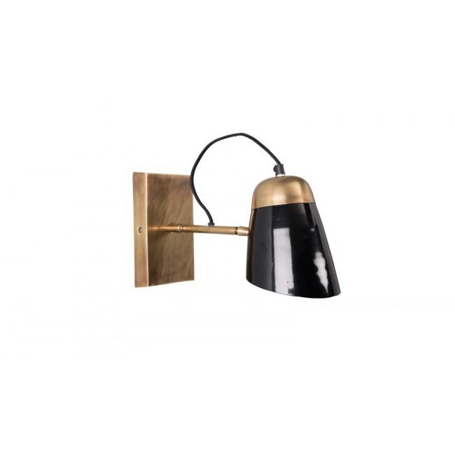applique murale articul e noire et cuivre old school par. Black Bedroom Furniture Sets. Home Design Ideas