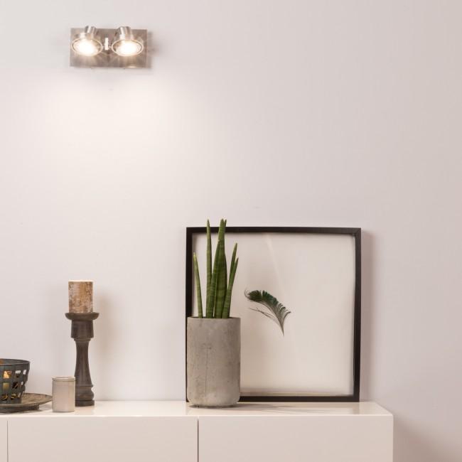 Applique/plafonnier design LED double Luci
