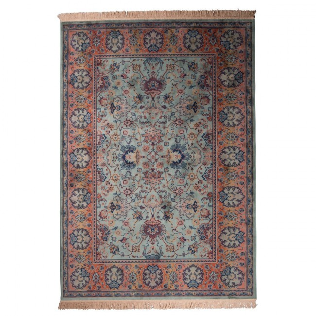 tapis persan vert old bid style oriental par drawer. Black Bedroom Furniture Sets. Home Design Ideas