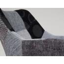 chaise capitonnée grise Twelve Patchwork de Zuiver