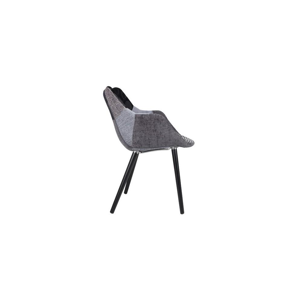 chaises lounge twelve patchwork capitonn es grises et noires ou multicolores. Black Bedroom Furniture Sets. Home Design Ideas