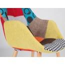 chaise capitonnée multicolore Twelve Patchwork de Zuiver