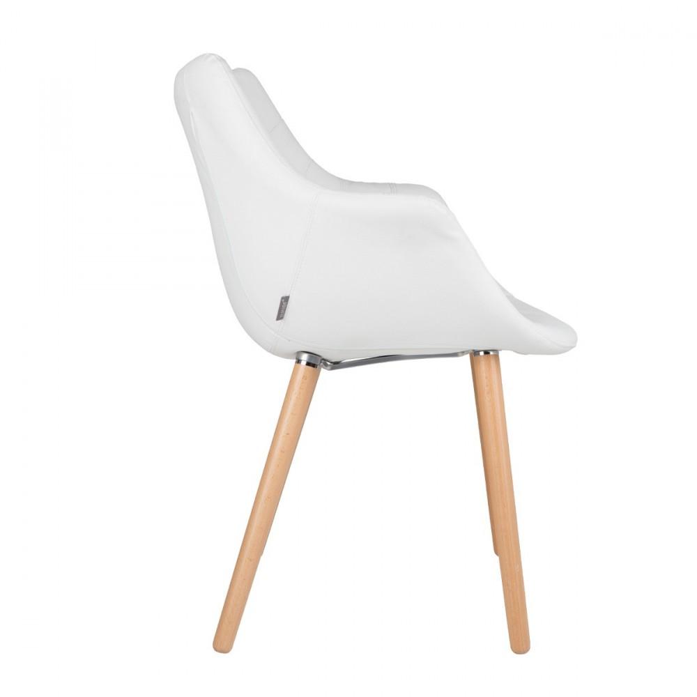 Chaise lounge twelve skin cuir noir ou blanc - Chaise simili cuir blanche ...