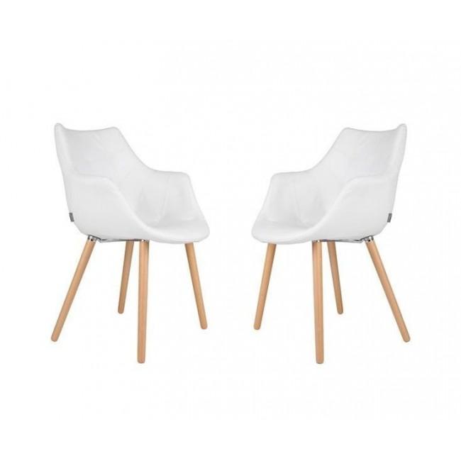 chaise lounge simili cuir Twelve Skin blanche de Zuiver