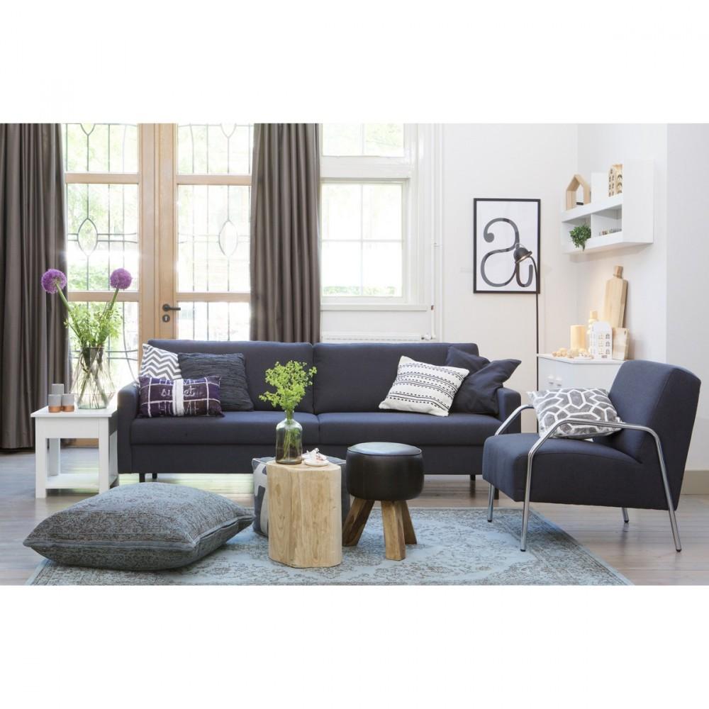 Canape contemporain tissu 3 places noah par drawerfr for Canapé 3 places pour idée déco tableau salon